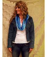 T-shirt scarf, necklace, neckplush...from recyc... - $12.00