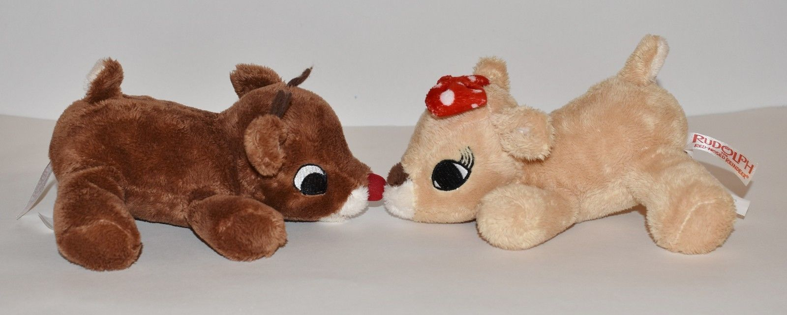 """Plush Rudolph The Red Nosed Reindeer & Girlfriend Clarice Deer Small 7"""" Toys"""