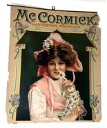 MCCORMICK ANTIQUE c.1895 CELLULOID AD HARVESTING FARM MACHINE Daisy Reap... - $197.99
