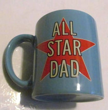 "Hallmark Blue Color ""ALL STAR DAD"" Collectible Paraglazed Ceramic Coffee... - $13.99"