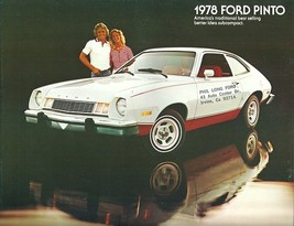 1978 Ford PINTO sales brochure catalog US 78 Squire Cruising Wagon - $6.00