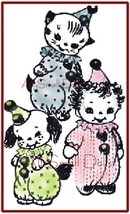 Vintage Pattern for Making 3 Cuddle Toy Clowns * Cloth Dolls - $5.99