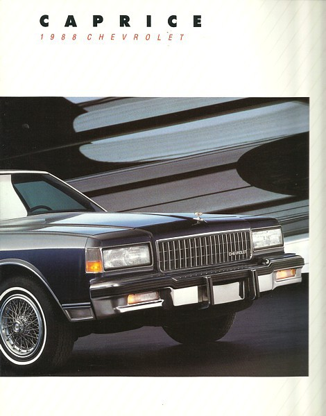 1988 Chevrolet CAPRICE brochure catalog 88 and 50 similar items