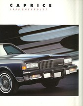 1988 Chevrolet CAPRICE brochure catalog 88 US Chevy Classic Brougham - $8.00