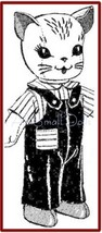 Vintage Cloth Doll Pattern for a Cuddly Kitten  - $5.99