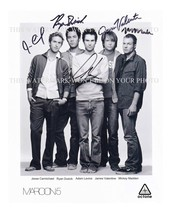 "MAROON 5 AUTOGRAPHED 8""X10"" RPT PHOTO GREAT BAND ADAM LEVINE ALL 5 - $16.99"