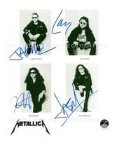 METALLICA LARS KURT JASON AND JAMES AUTOGRAPHED 8x10 RPT PHOTO AWESOME - $14.99