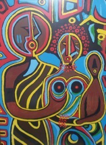 "1971 SIGNED & NUMBERED ADEMOLA OLUGEBEFOLA ""FAMILY"" PRINT"