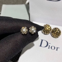 Authentic Christian Dior 2019 CRYSTAL STAR BEADS Double Pearl Tribales Earrings image 13