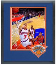 John Starks New York Knicks Circa 1996-1997-11 x14 Team Logo Matted/Framed Photo - $43.55