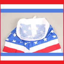 Men's All American USA Flag Swim Beach Board Trunks in Red White n Blue or Black image 3