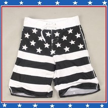Men's All American USA Flag Swim Beach Board Trunks in Red White n Blue or Black image 5