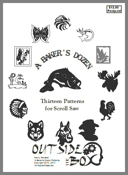 A Baker's Dozen- 13 Patterns for Scroll Saw by OTB Patterns