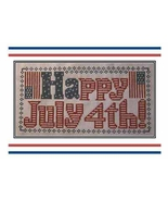 Happy July 4th patriotic cross stitch chart The Stitcherhood - $8.10