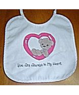 New Handcrafted Baby Bib, Your Always in My Heart - $9.99