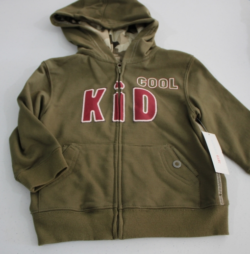 Cool Kid 2T Dark Green Light Jacket with hood New /tag