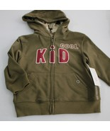 Cool Kid 2T Dark Green Light Jacket with hood New /tag - $7.95