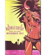 Burlesque Hall of Fame Weekender 2013 Program Orleans Hotel Las Vegas - $4.95