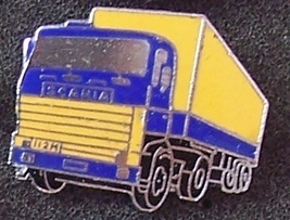 Old Scania 112M Tractor Truck Lapel Pin Pinback - $9.95