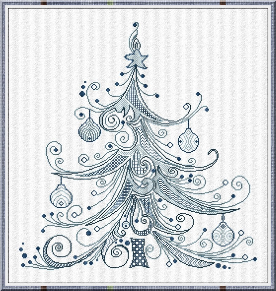 Christmas Tree 99 cross stitch chart Alessandra Adelaide Needlework - $16.20
