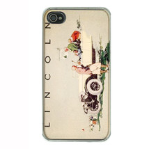 Lincoln Car 1920s Vintage Ad iPhone 4 Hard Case 431 - $13.48