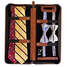 Vegan Leather Travel Tie Case - 6 Neck Tie Organizer by Case Elegance - €48,74 EUR