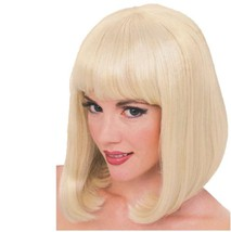Wig - Peggy Sue - Blonde - Adult Sexy Super Model Glamour Long Bob w/ Bangs - $15.97