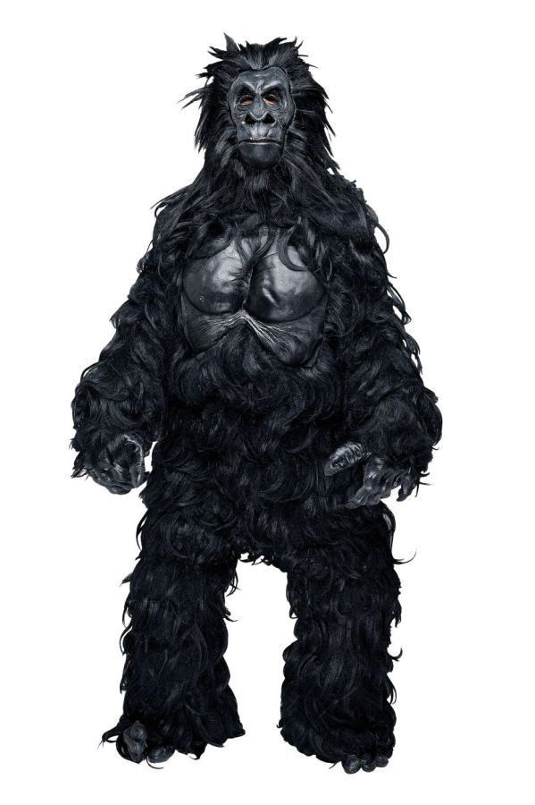 Hairy Gorilla Monkey Mascot Professional Costume Party Ape Prop