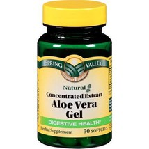 Spring Valley Aloe Vera Dietary Supplement 25mg Softgels Bottle - $12.86