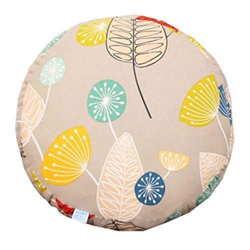 Primary image for Floor Pillow - 15.7 inch Round - Leaves Pattern - Cotton Thicken + Lovely Cloth