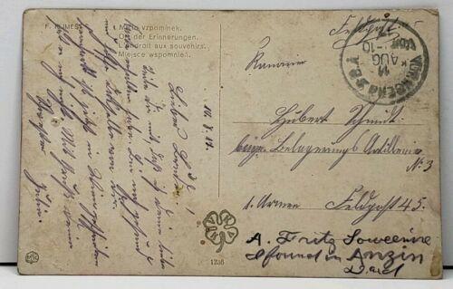 Artist Signed Klimes, Victorian Woman on Park Bench 1910 Postcard E4 image 2