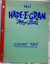 Hade-E-Gram Vol. 3 1961 - $65.11