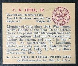 1950 Bowman #5  Y. A. Tittle Reprint - MINT - Baltimore Colts - $1.98