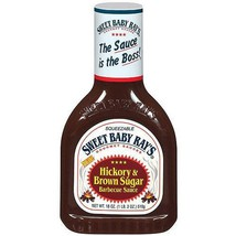 Sweet Baby Ray's Hickory & Brown Sugar Barbecue Sauce 18 oz Bottle - $10.68