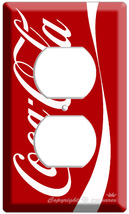 COKE COCA-COLA CLASSIC VERTICAL ELECTRICA POWER OUTLET COVER VINTAGE WAL... - $8.99
