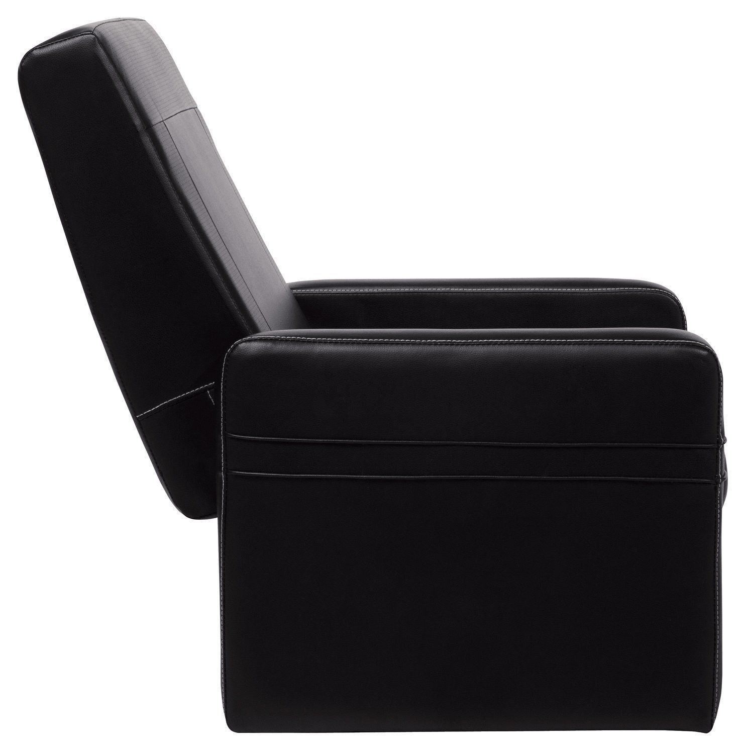 Serta ottoman gaming chair in puresoft black faux leather for Ottoman storage chair
