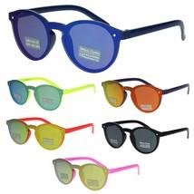 Kids Size Unisex Round Keyhole Thin Horn Rim Hipster Sunglasses - $9.95