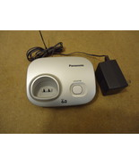 Panasonic 6.0 Cordless Phone Base DECT Silvers ... - $20.19