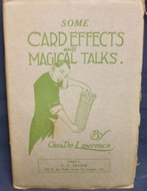 Some Card Effects and Magical Talks by  DeLawrence George - $41.04