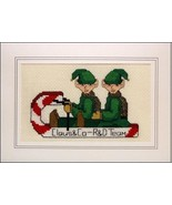 Santa's Helper's elves holiday cross stitch car... - $5.40