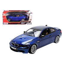 BMW M3 E92 Coupe Blue 1/18 Diecast Car Model by Motormax - $54.94