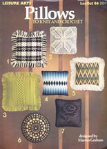 Pillows To Knit & Crochet Vintage 1976 Leisure Arts #86 Bargello, Filet - $10.99