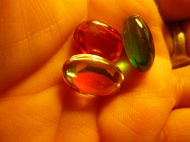 HAUNTED 3 NEGA  STONES FROM THAILAND RED DRAGON TEBITIAN MONK DJINN - $200.00