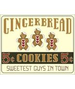 Sweetest Guys In Town gingerbread holiday cross stitch chart Linda Jeann... - $7.20