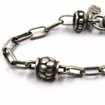 Silber Armband 925, Brüniert Matt, Pink der Zwanzig, Kompass, 18 CM image 3