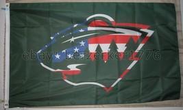 Minnesota Wild NHL U.S.A. USA Olympic World Cup 3'x5' Flag - USA Seller Shipper - $25.00