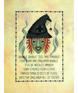 FlosseMar the Stitcher's Witch halloween cross stitch chart Linda Jeanne... - $7.20