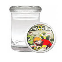 Green Lantern Green Arrow Drug Medical Glass Jar 204 - $14.48