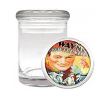 John Wayne Western Cowboy 1939 Medical Glass Jar 425 - $14.48