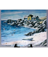 Gallery of Fine Art (Royale Academie) Print, Surf, Sand and Rocks, Henry... - $1.95